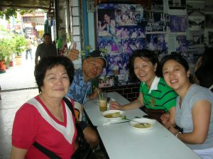 Aunt Jessica, Uncle Joe, Mom & me enjoying delicious Chinese shaved ice in Tainan