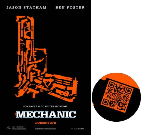 Ad post the mechanic movie poster qr code amy in wonderland by image credit http2d codethe the mechanic movie advertising sciox Choice Image